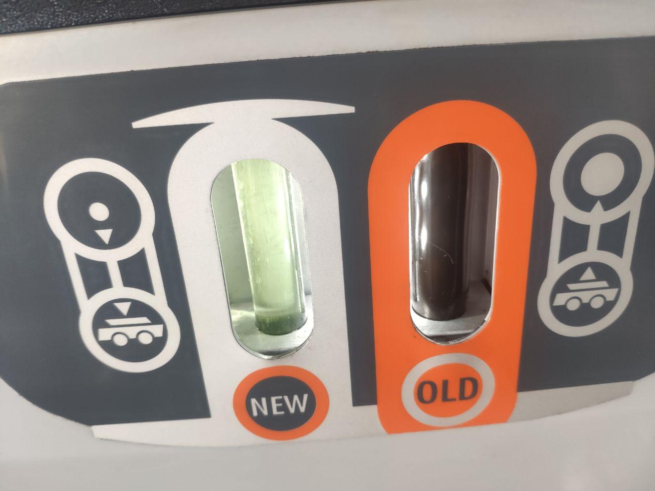 Porównanie nowego i starego oleju Dynamiczna wymiana oleju