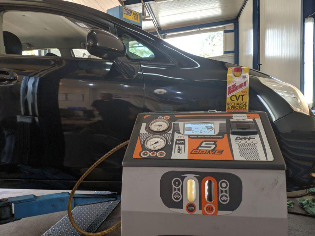 Toyota t27 dynamiczna wymiana oleju w skrzyni CVT